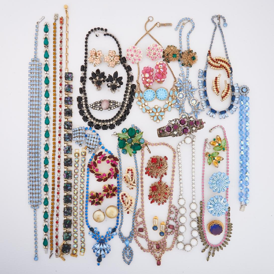 COLLECTION OF COLORFUL COSTUME JEWELRY