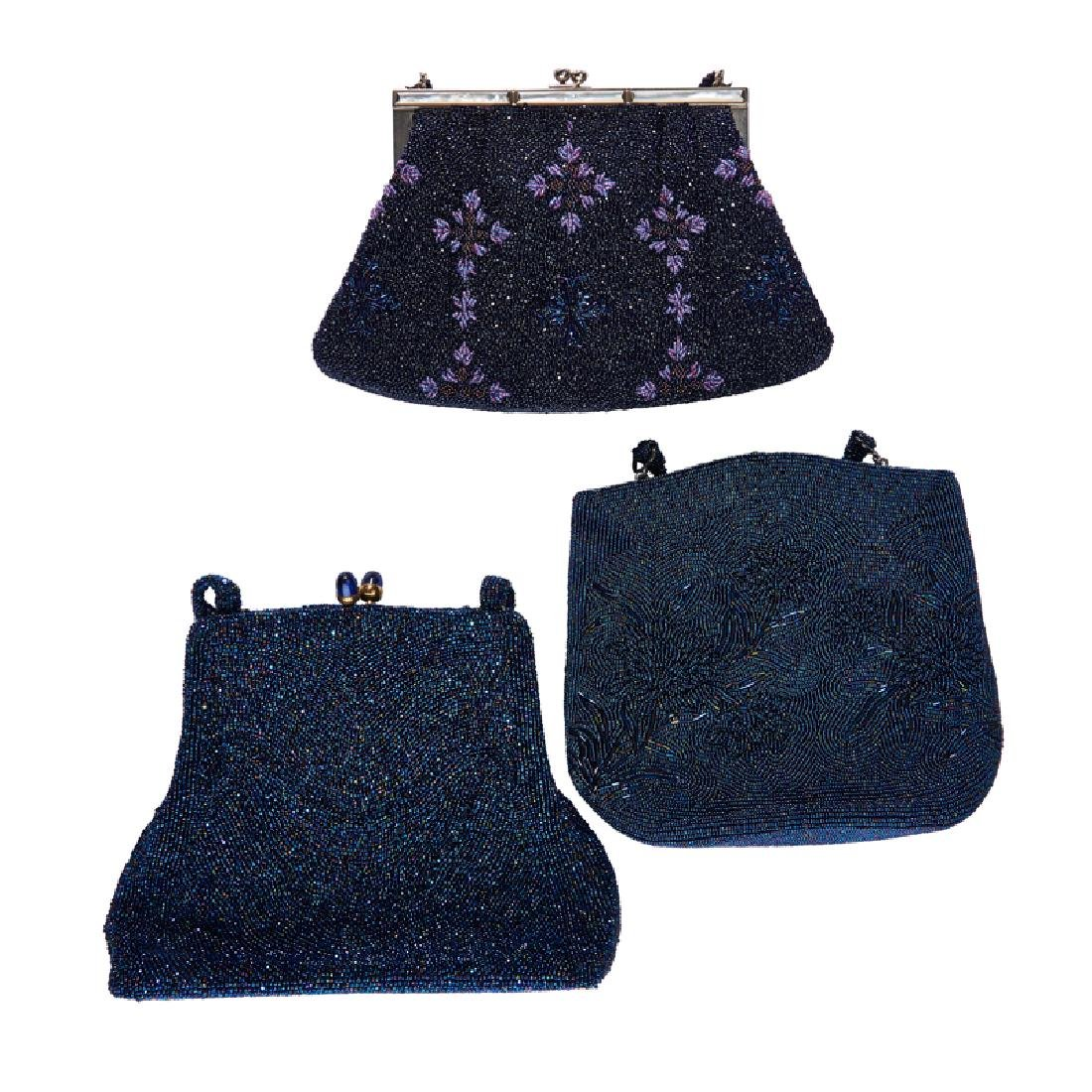 GROUP OF VINTAGE BEADED EVENING BAGS