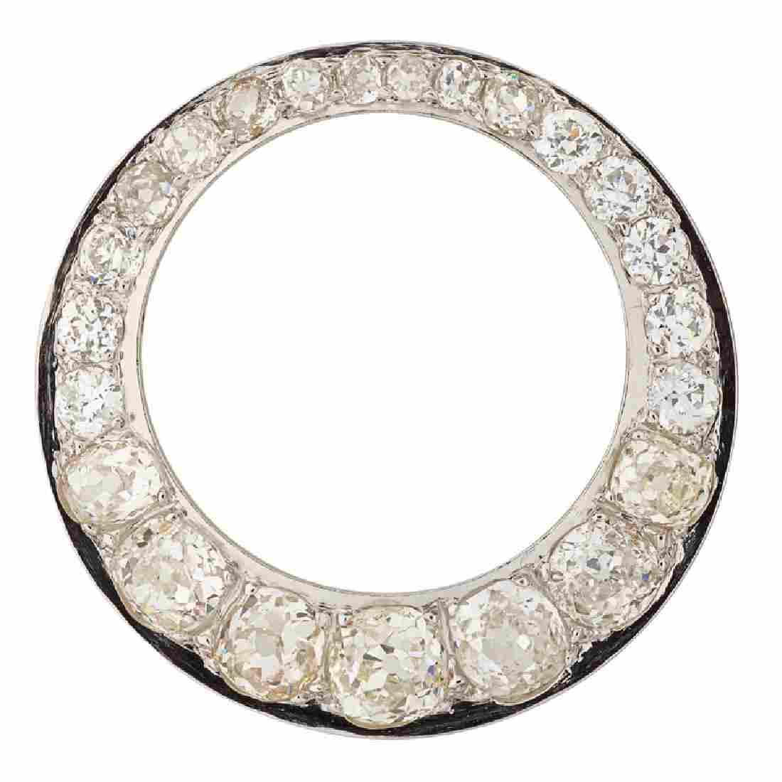 EDWARDIAN DIAMOND & PLATINUM CIRCLE BROOCH