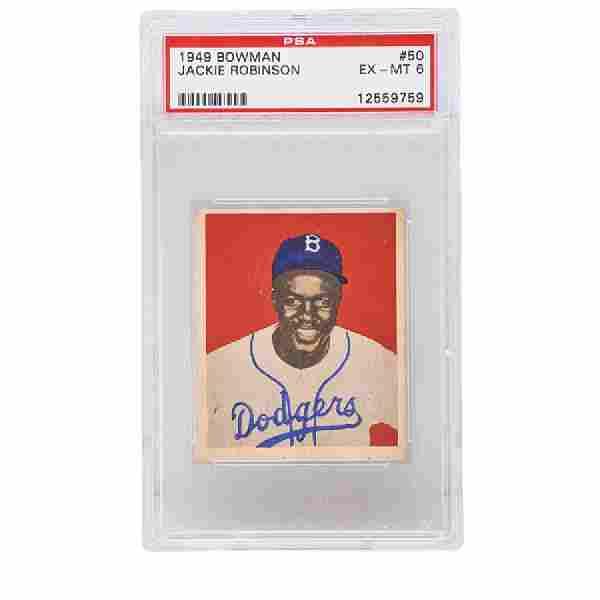 1949 BOWMAN JACKIE ROBINSON BASEBALL CARD