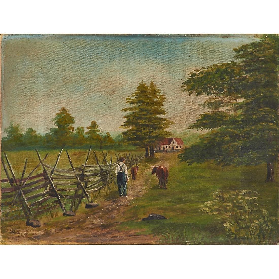 19TH C. FARM SCENE