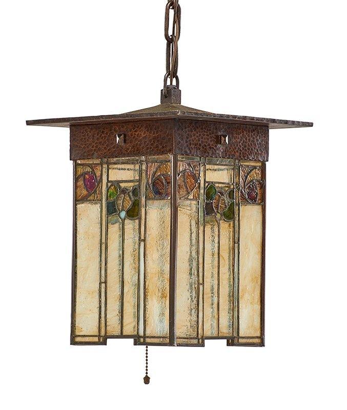 GUSTAV STICKLEY Exceptional and rare lantern