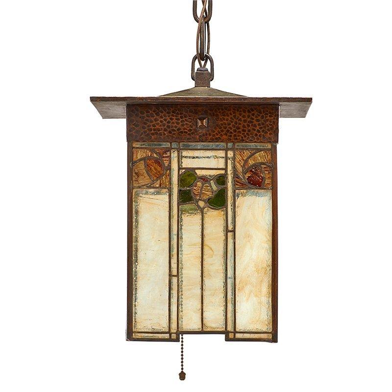GUSTAV STICKLEY Exceptional and rare lantern - 2