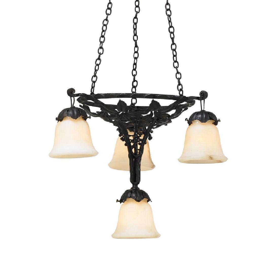 PAUL KISS Art Deco chandelier - 2