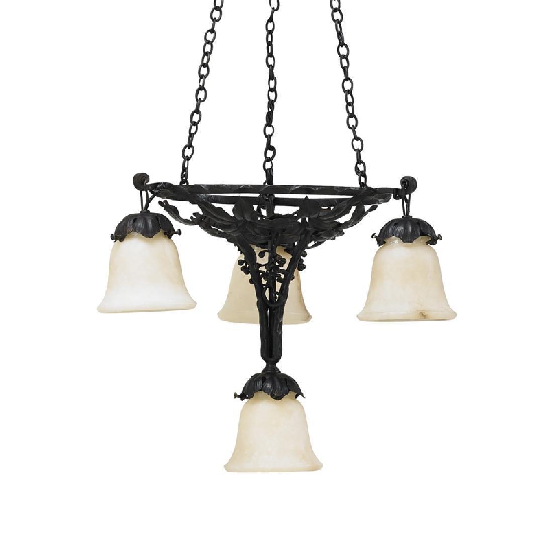 PAUL KISS Art Deco chandelier - 3