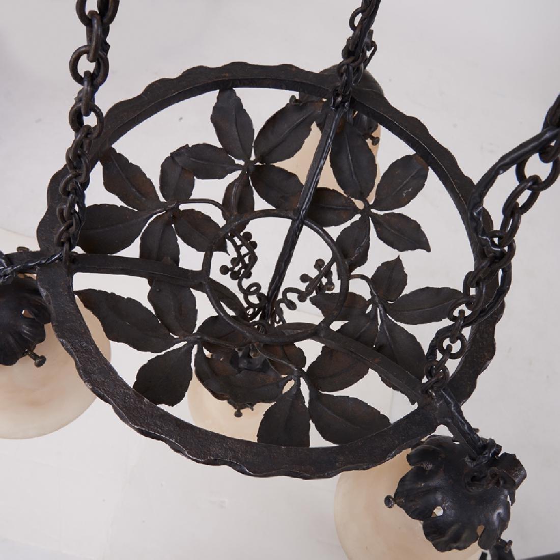 PAUL KISS Art Deco chandelier - 8
