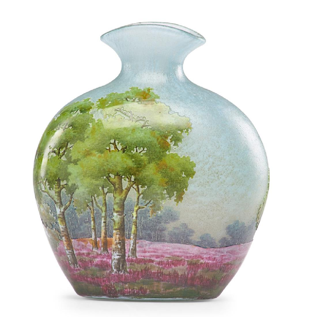 DAUM Cameo glass vase - 2
