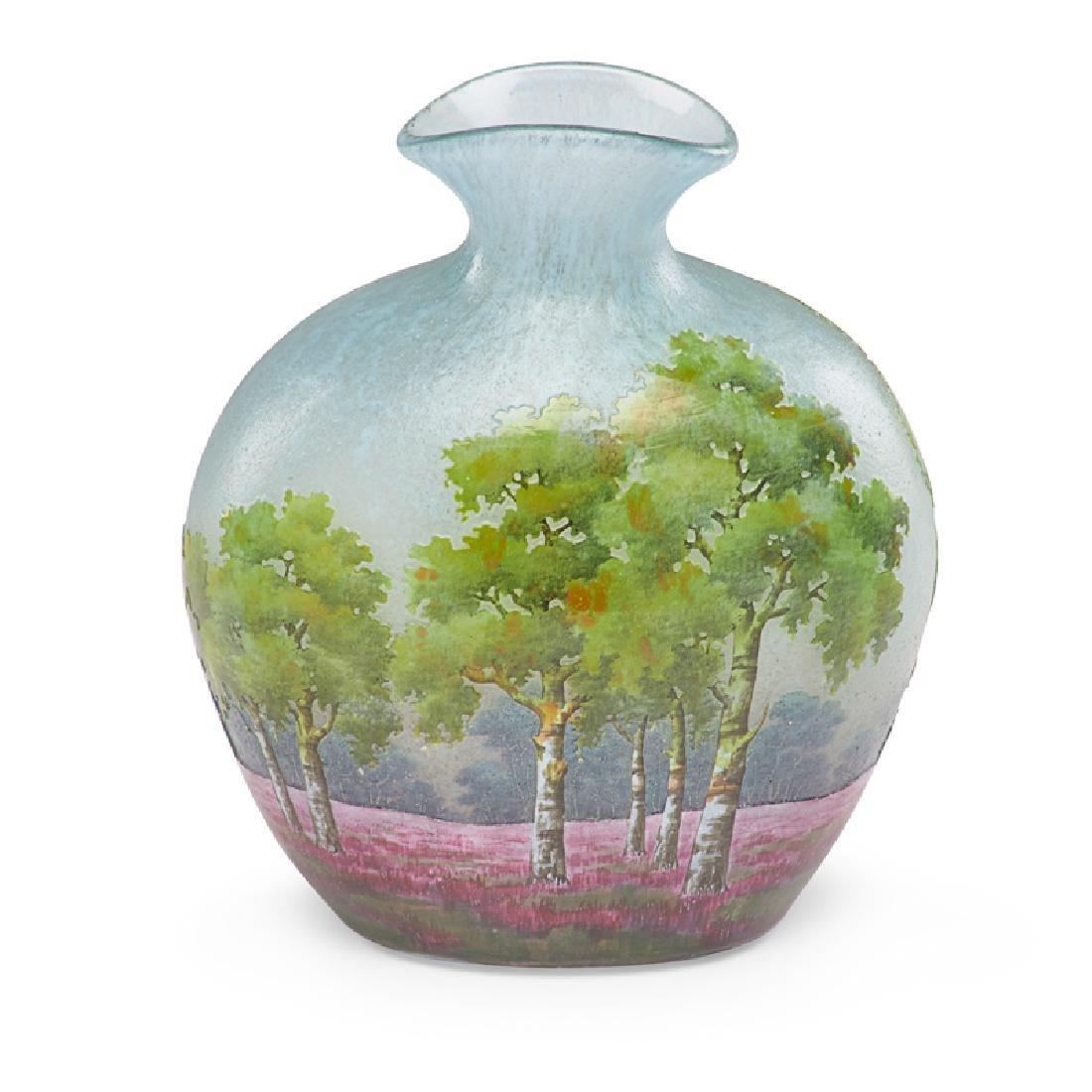 DAUM Cameo glass vase - 3