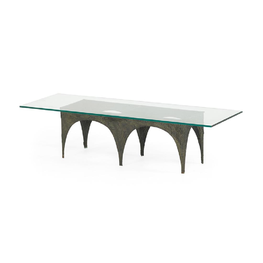 PAUL EVANS Sculptured Metal coffee table