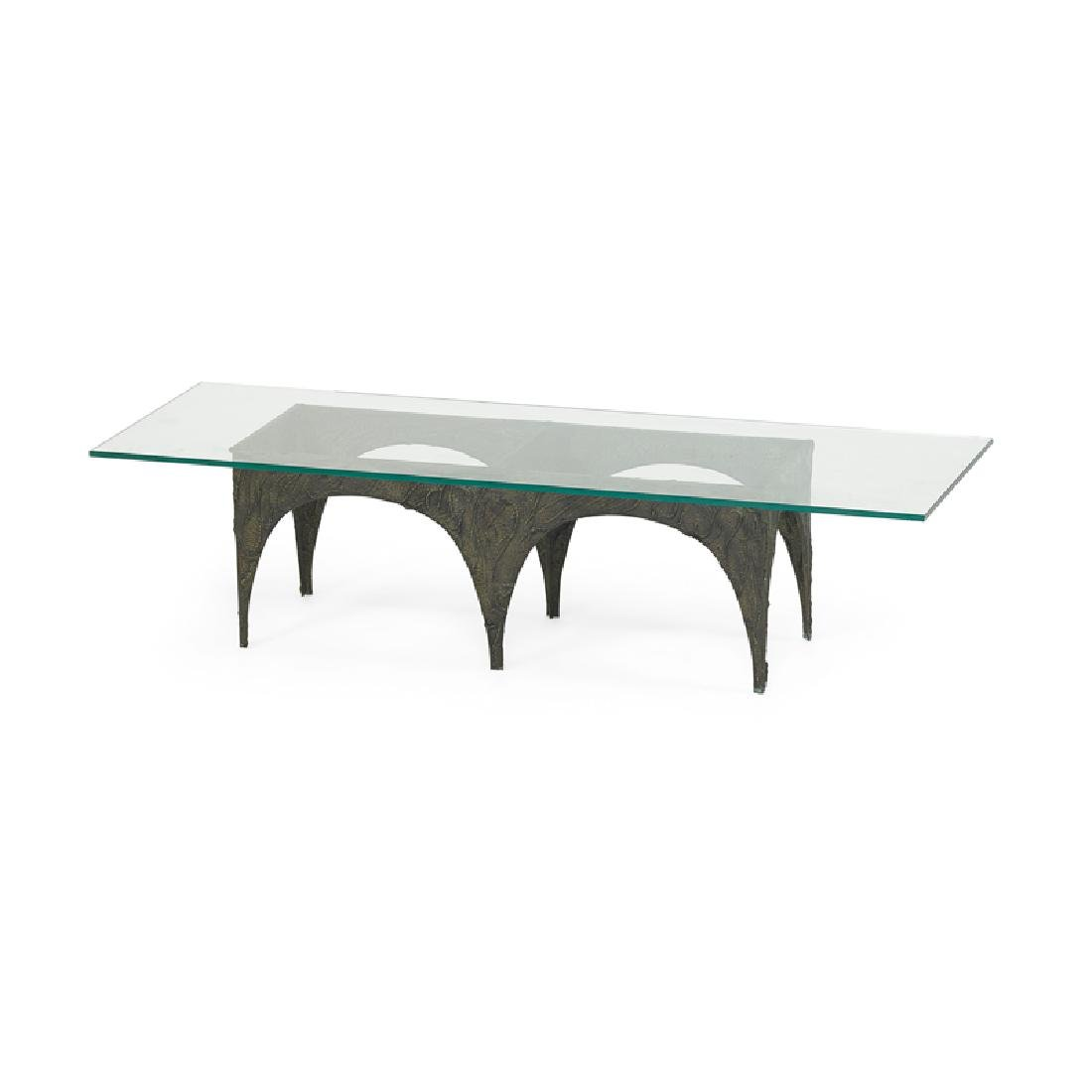 PAUL EVANS Sculptured Metal coffee table - 2