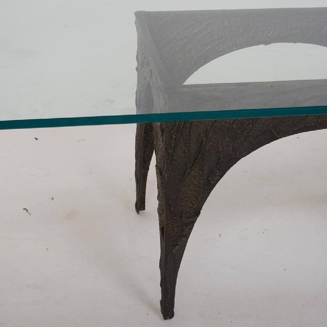 PAUL EVANS Sculptured Metal coffee table - 3