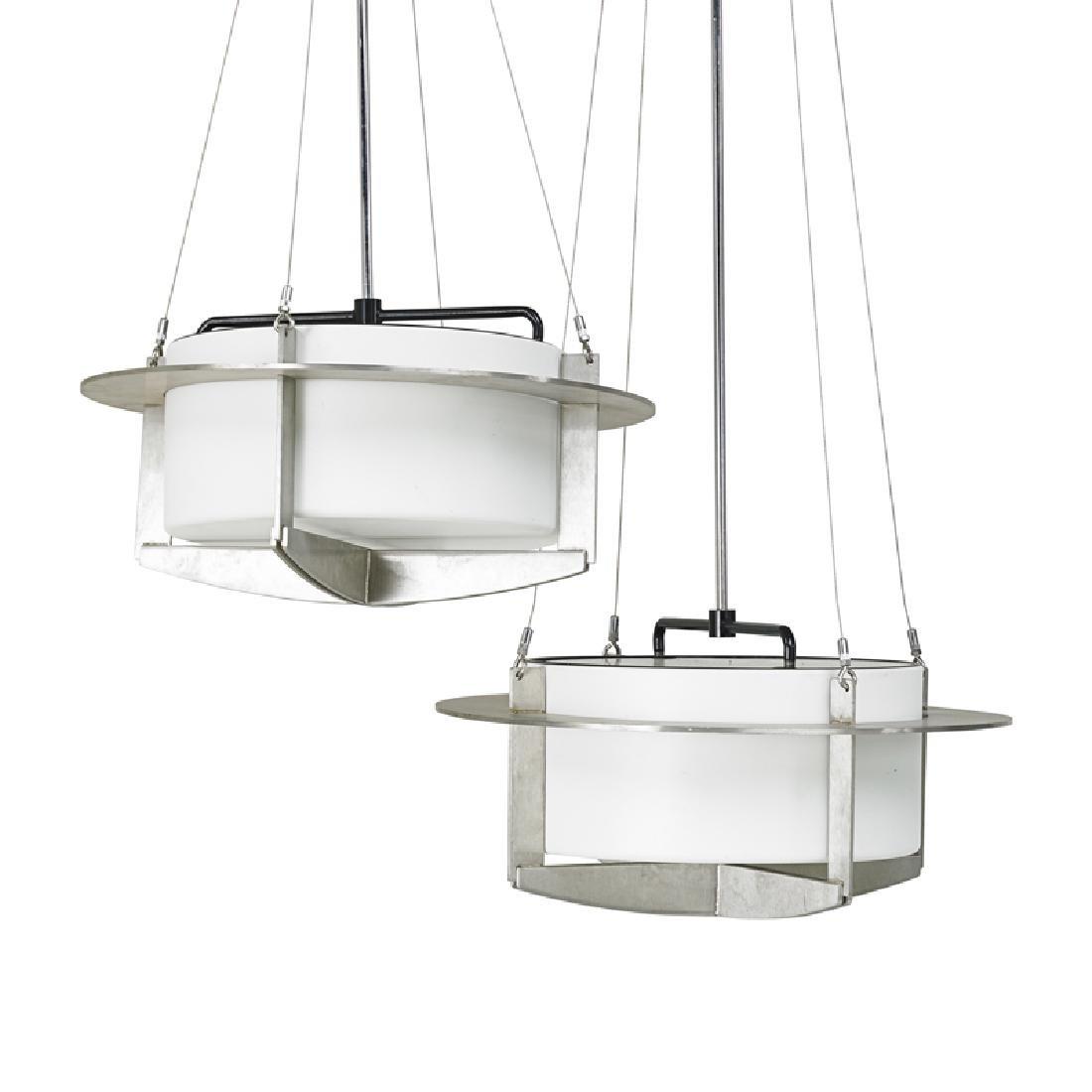I.M. PEI Pair of chandeliers