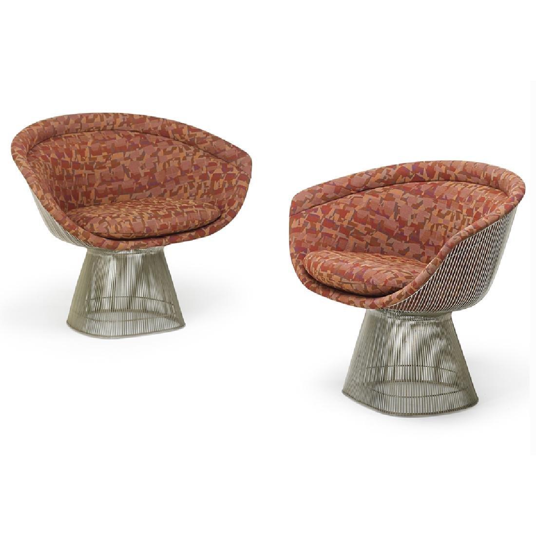 WARREN PLATNER Pair of lounge chairs