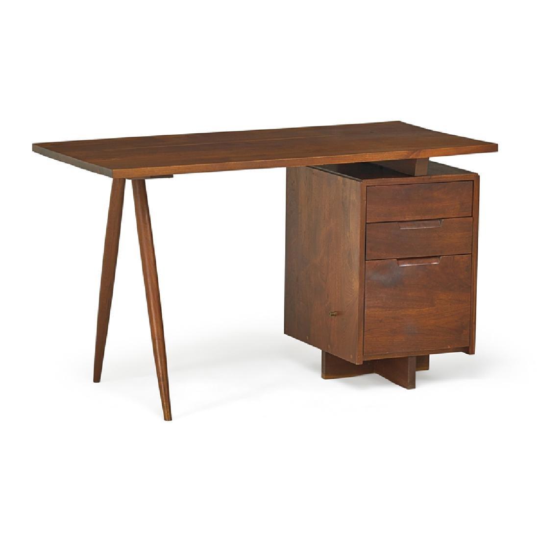 GEORGE NAKASHIMA Early Single Pedestal Desk