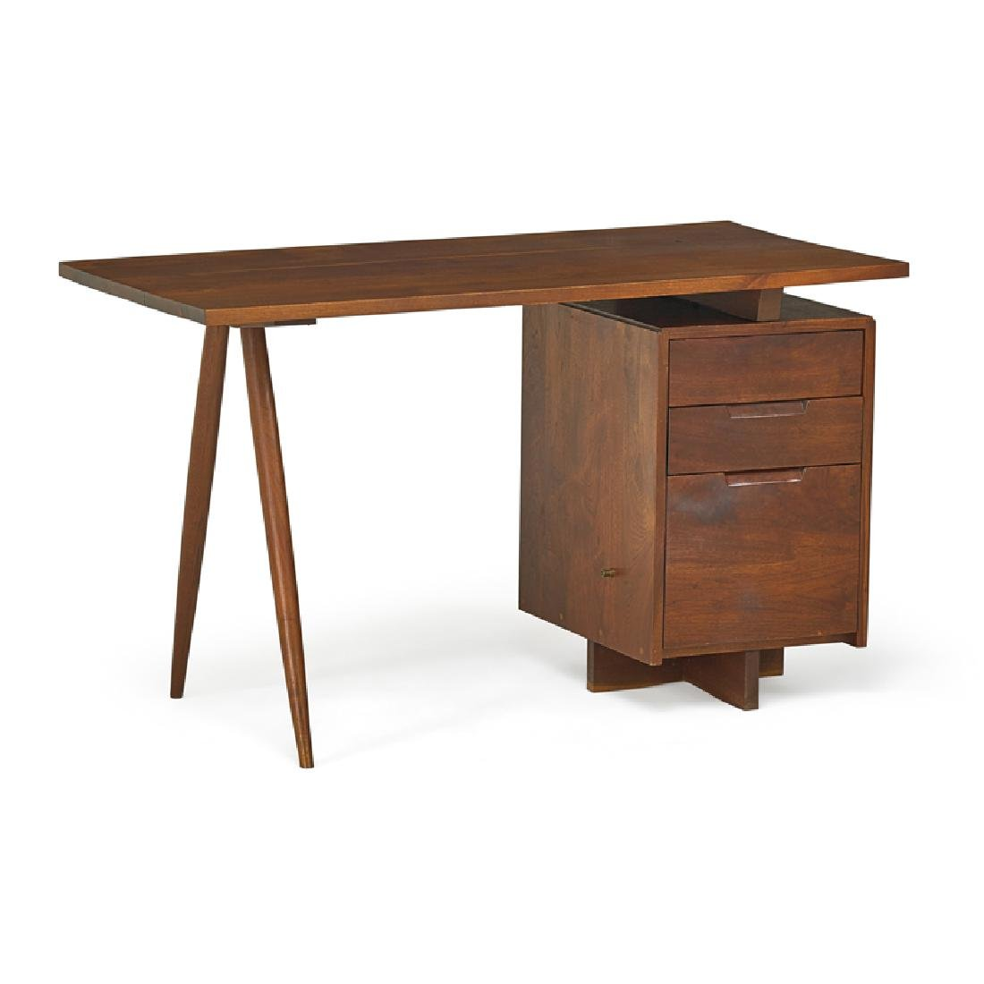 GEORGE NAKASHIMA Early Single Pedestal Desk
