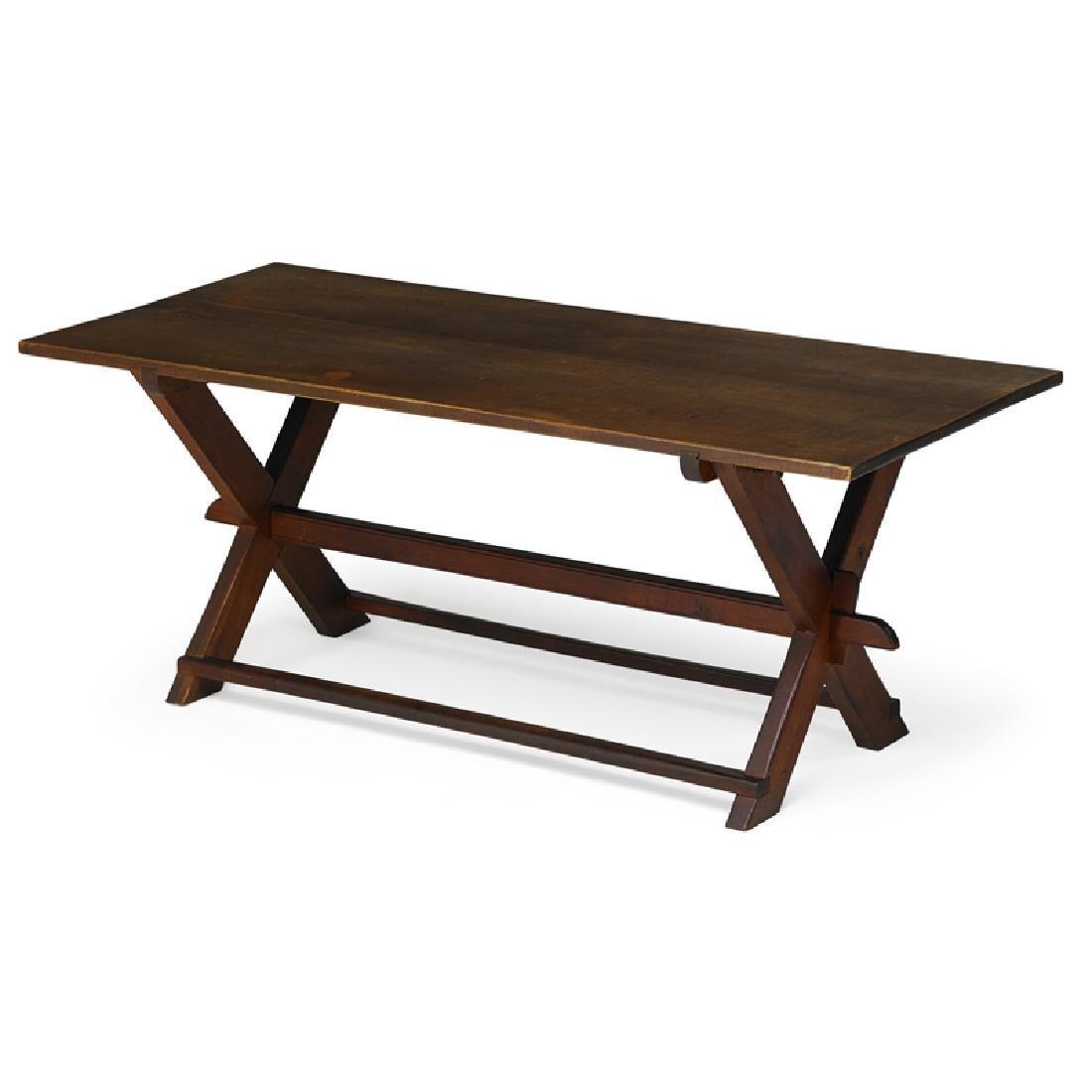FREDERICK HARER Trestle dining table