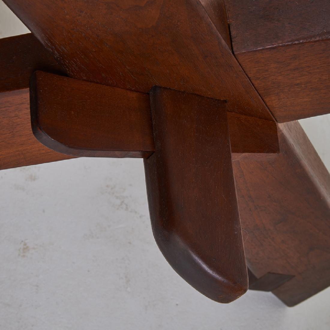 FREDERICK HARER Trestle dining table - 5