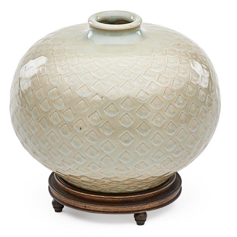 BOGELUND; ANDERSEN; ROYAL COPENHAGEN Vase w/ base