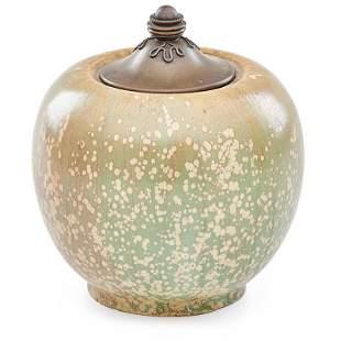 NORDSTROM; ANDERSEN; ROYAL COPENHAGEN Lidded vase