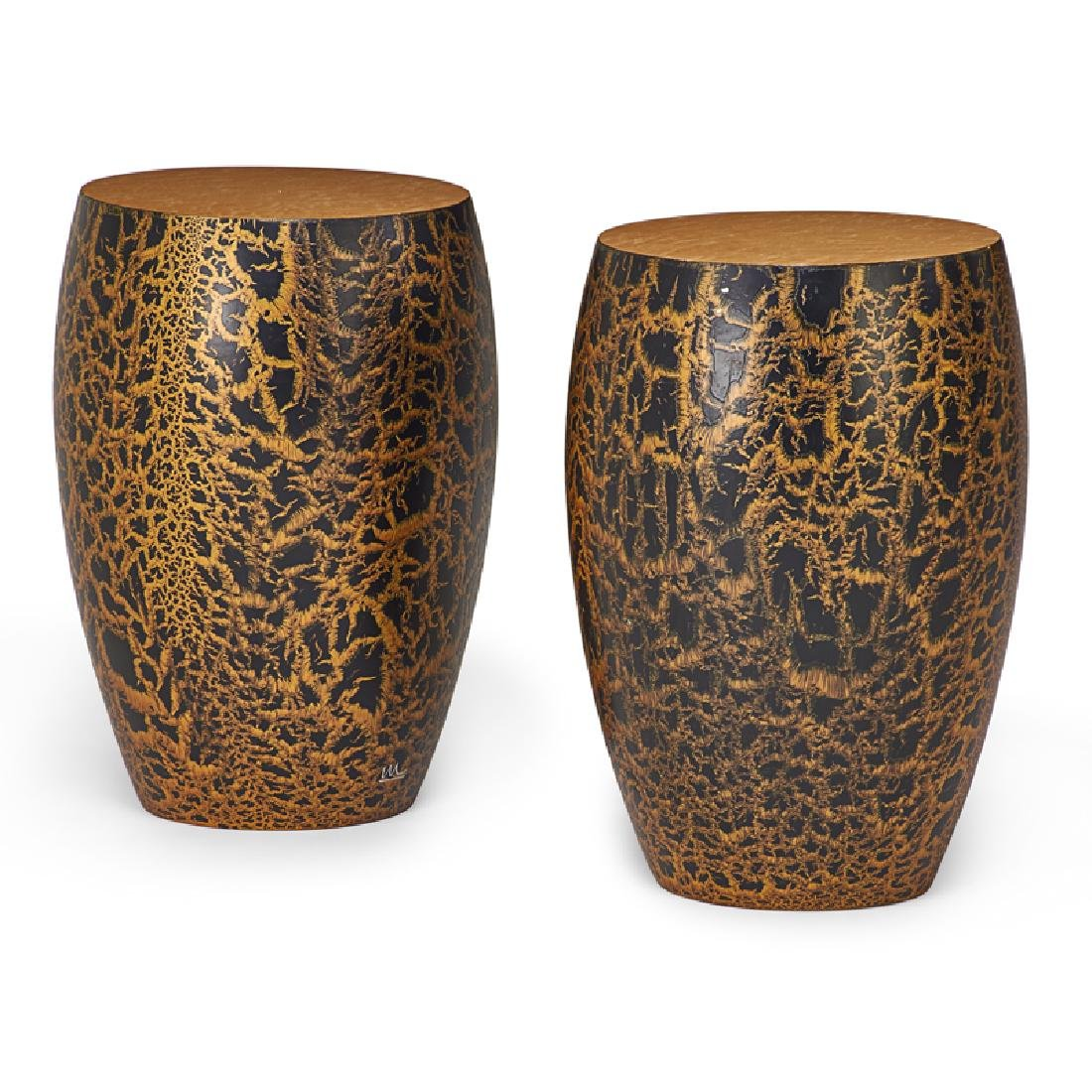 WENDELL CASTLE Pair of Karma side tables