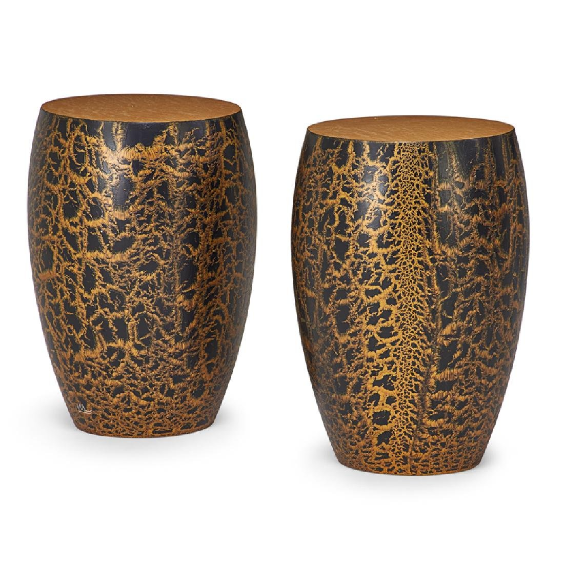 WENDELL CASTLE Pair of Karma side tables - 2