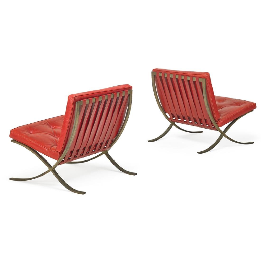 LUDWIG MIES VAN DER ROHE Pair of Barcelona chairs - 2