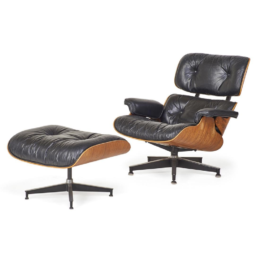 CHARLES AND RAY EAMES Lounge chair and ottoman - 2
