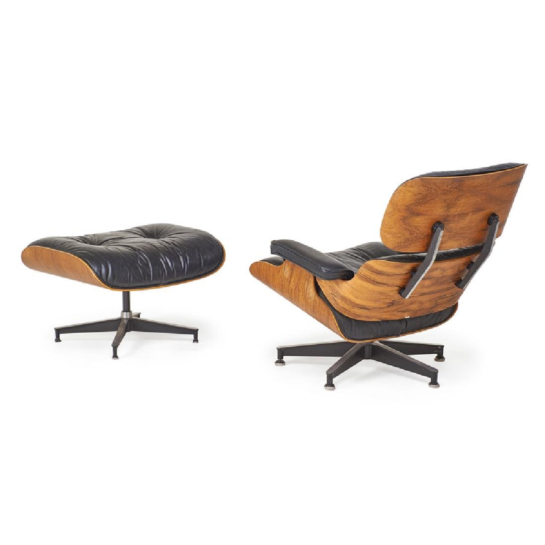 CHARLES AND RAY EAMES Lounge chair and ottoman - 3