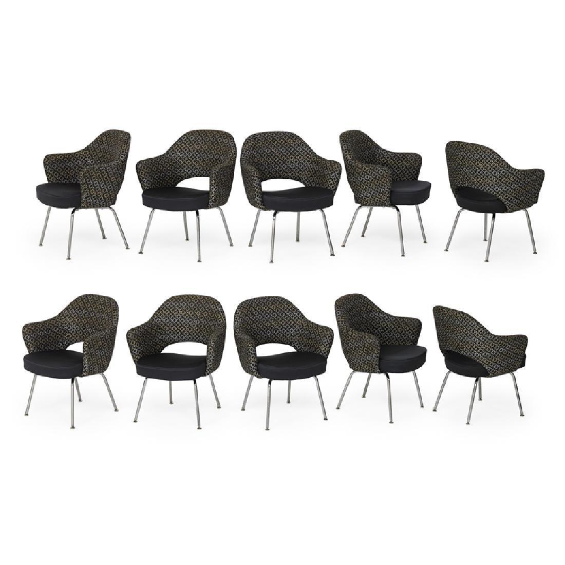 EERO SAARINEN Set of ten Executive armchairs