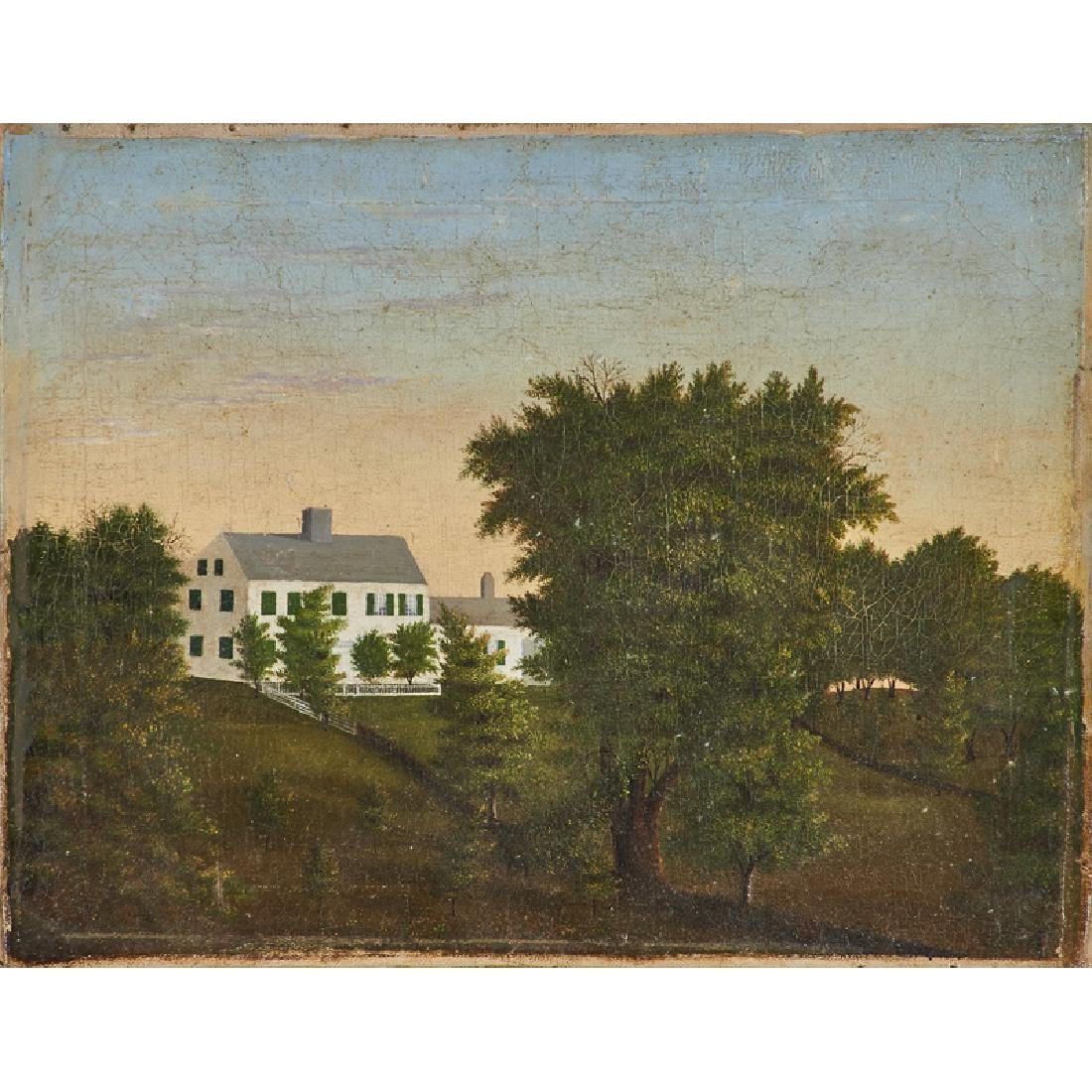 19TH C. AMERICAN SCHOOL LANDSCAPE