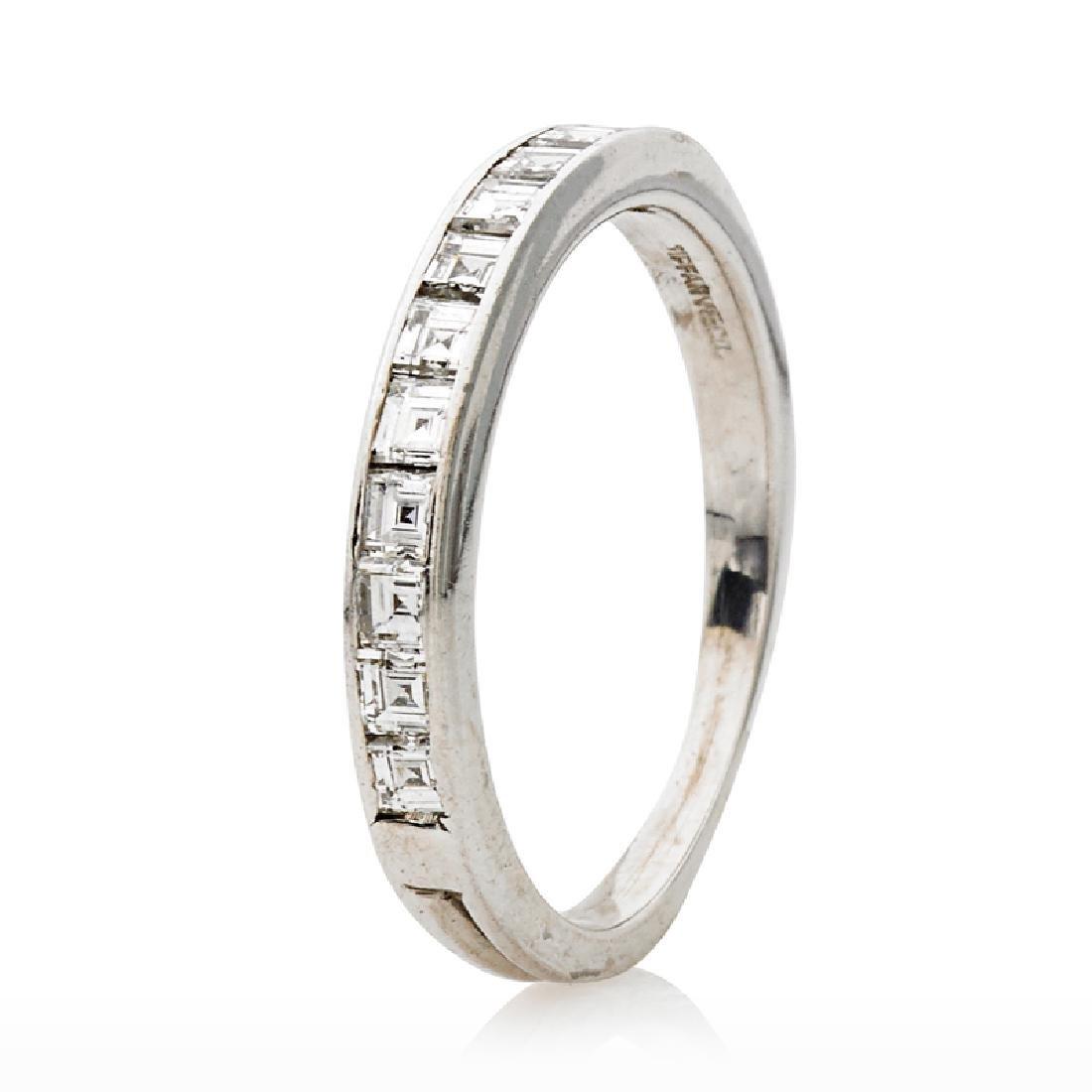 TIFFANY & CO. DIAMOND & PLATINUM ETERNITY BAND RING