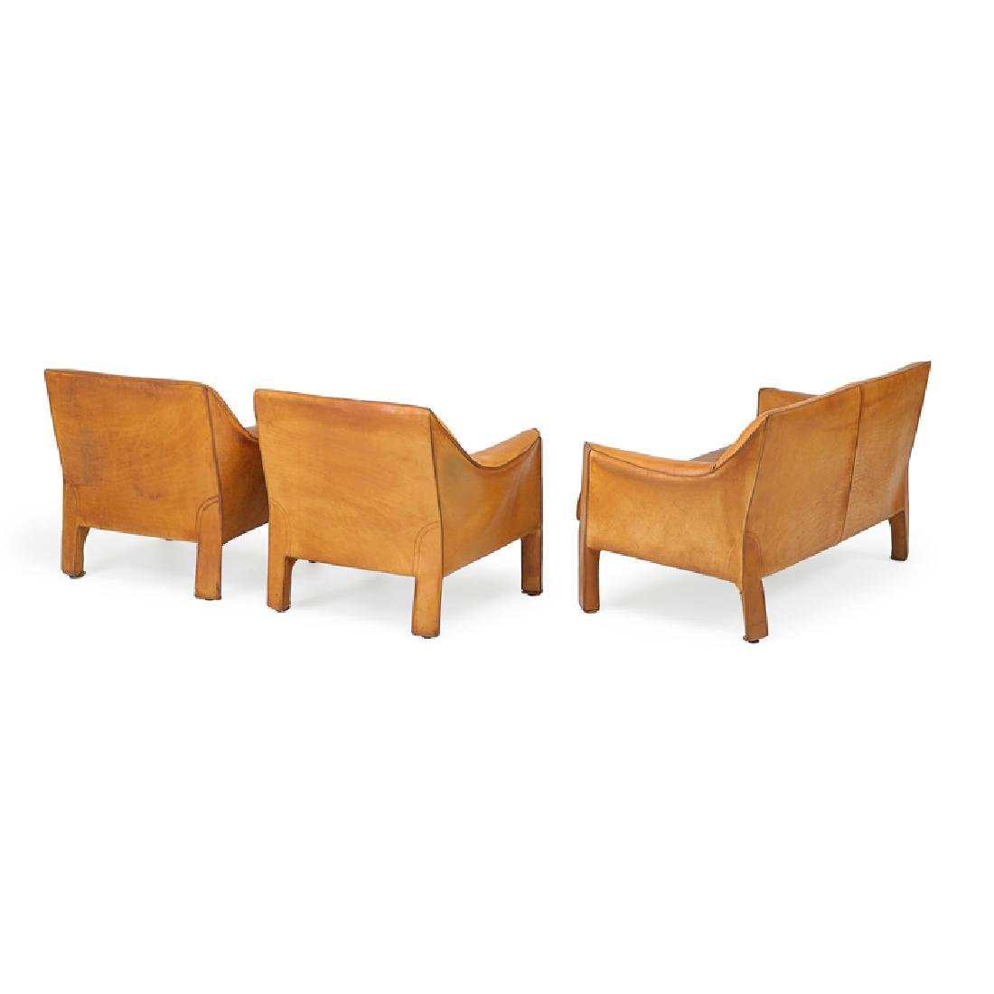 MARIO BELLINI Cab love seat, pr. of lounge chairs - 2