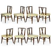 TOMMI PARZINGER Set of eight dining chairs