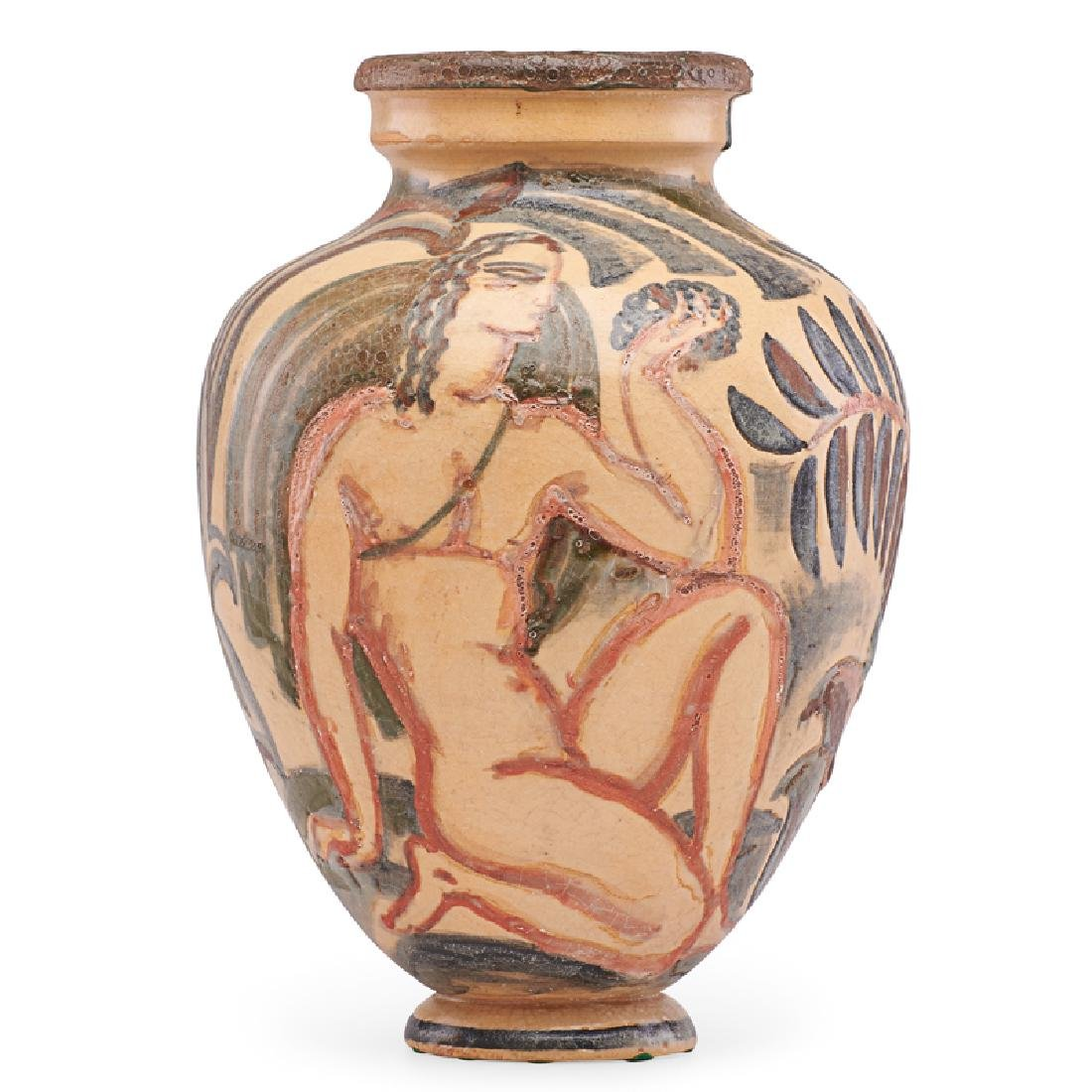 RENE BUTHAUD Vase with nudes