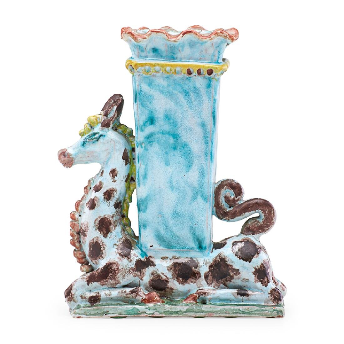 RENE BUTHAUD Vase with giraffe - 2