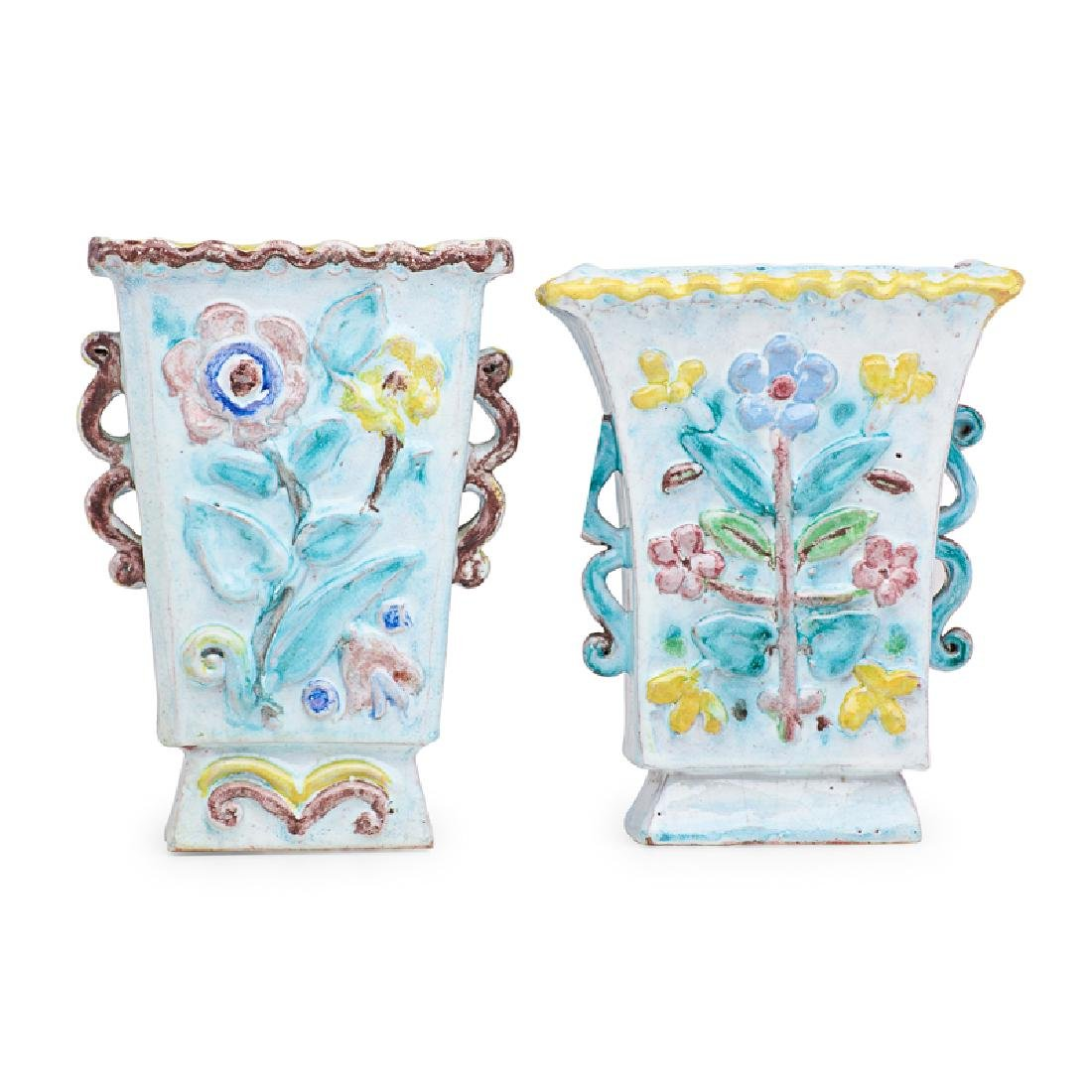 RENE BUTHAUD Two faience vases - 2