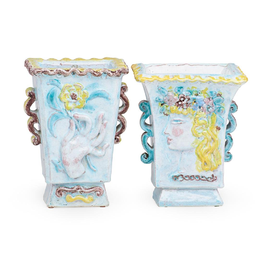 RENE BUTHAUD Two faience vases - 3