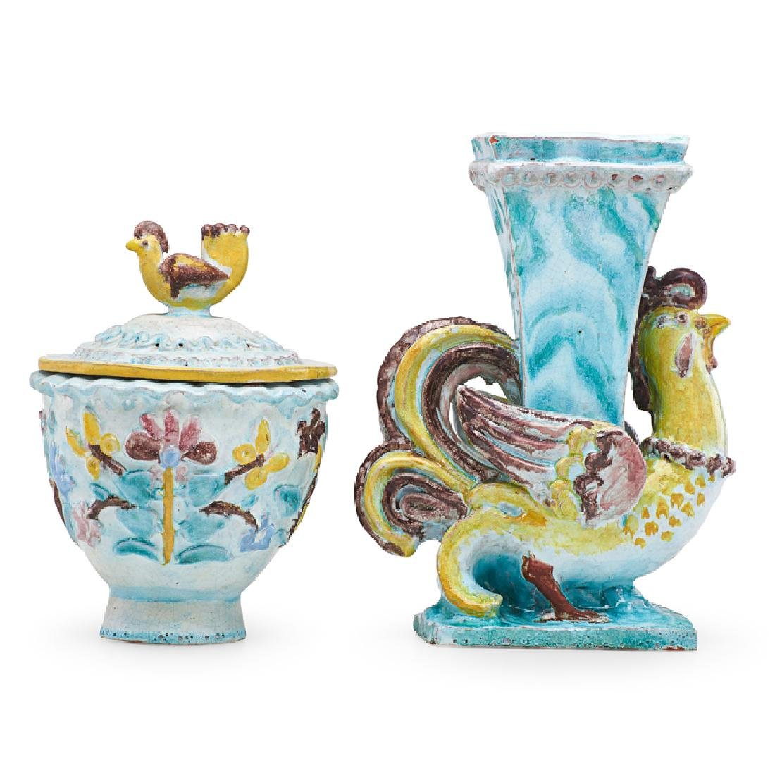RENE BUTHAUD Vase and lidded vessel - 2