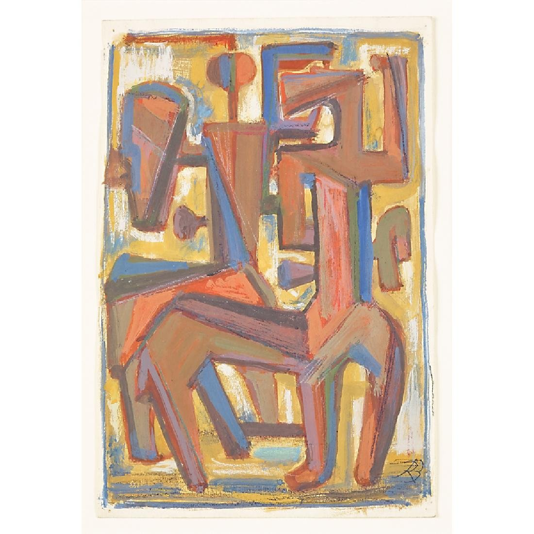 RENE BUTHAUD Two untitled Cubist sketches