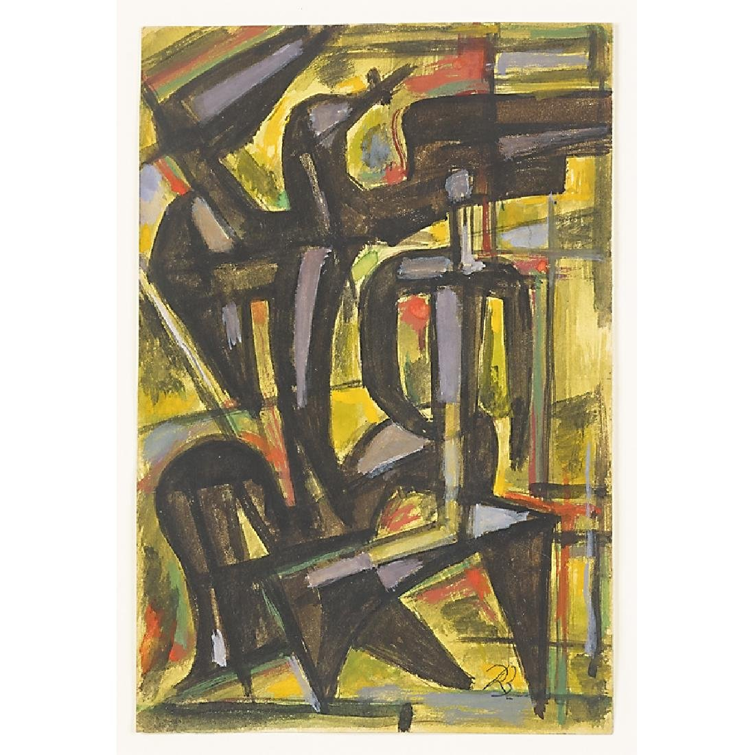RENE BUTHAUD Two untitled Cubist sketches - 2