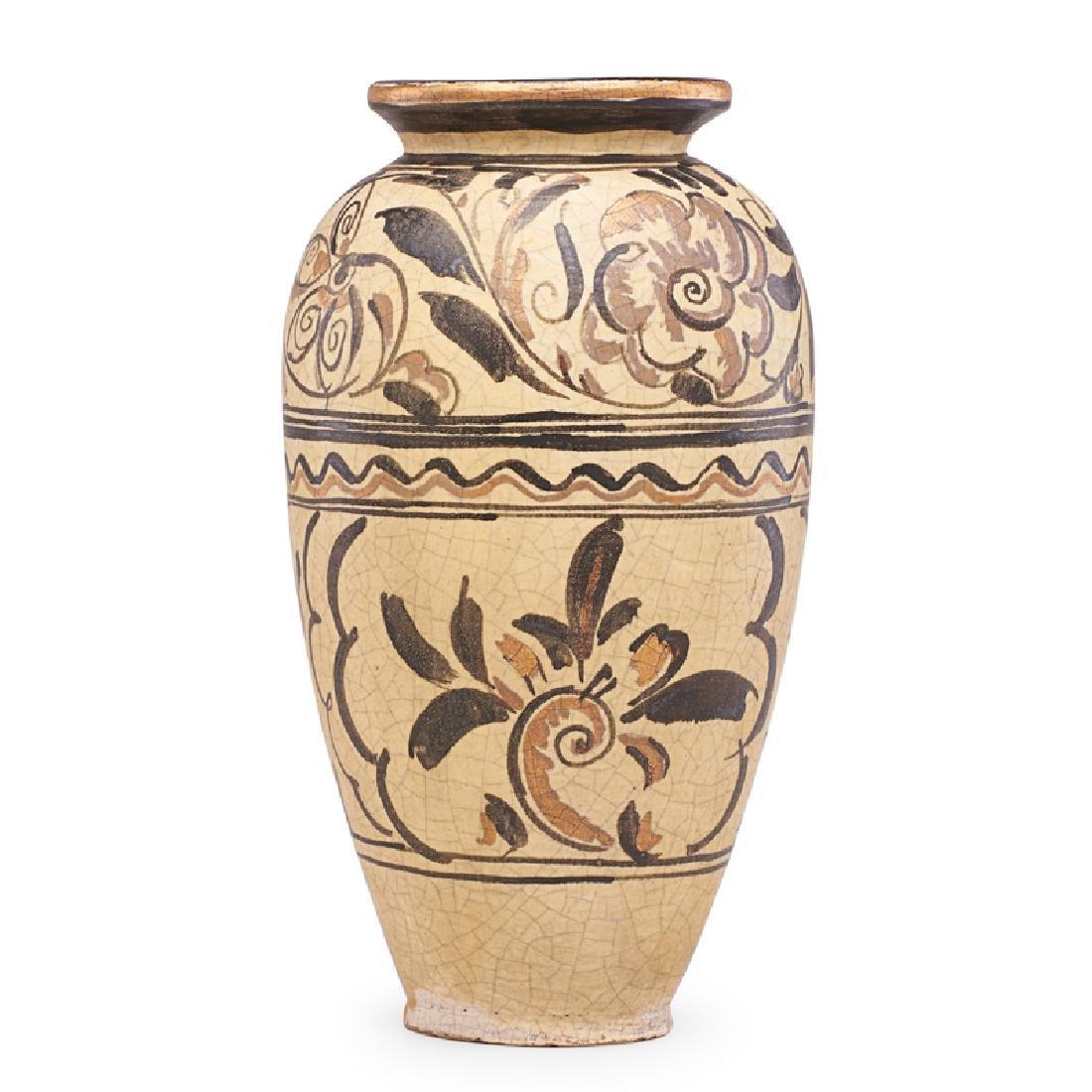 RENE BUTHAUD Large vase with stylized flowers