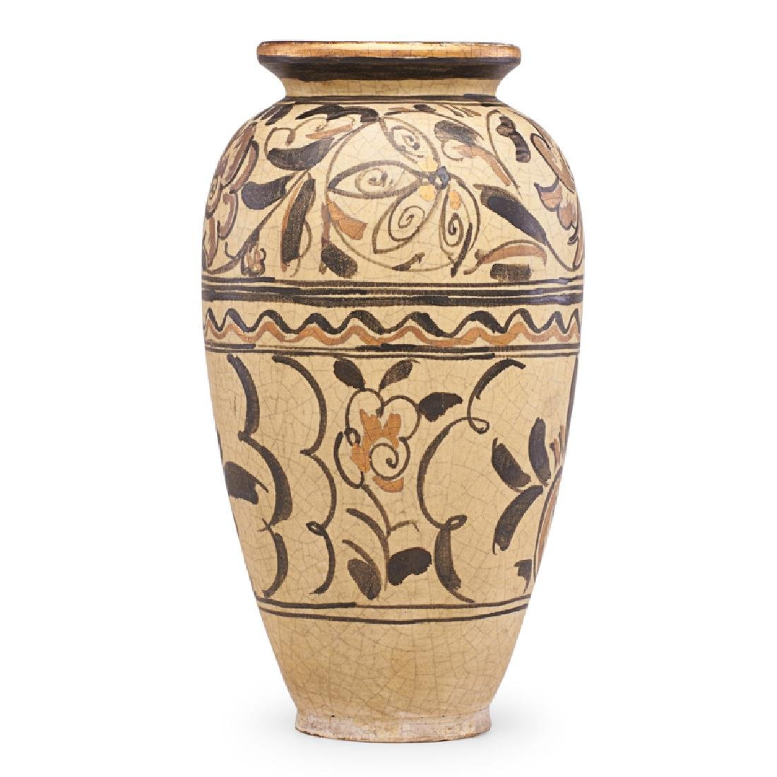 RENE BUTHAUD Large vase with stylized flowers - 2