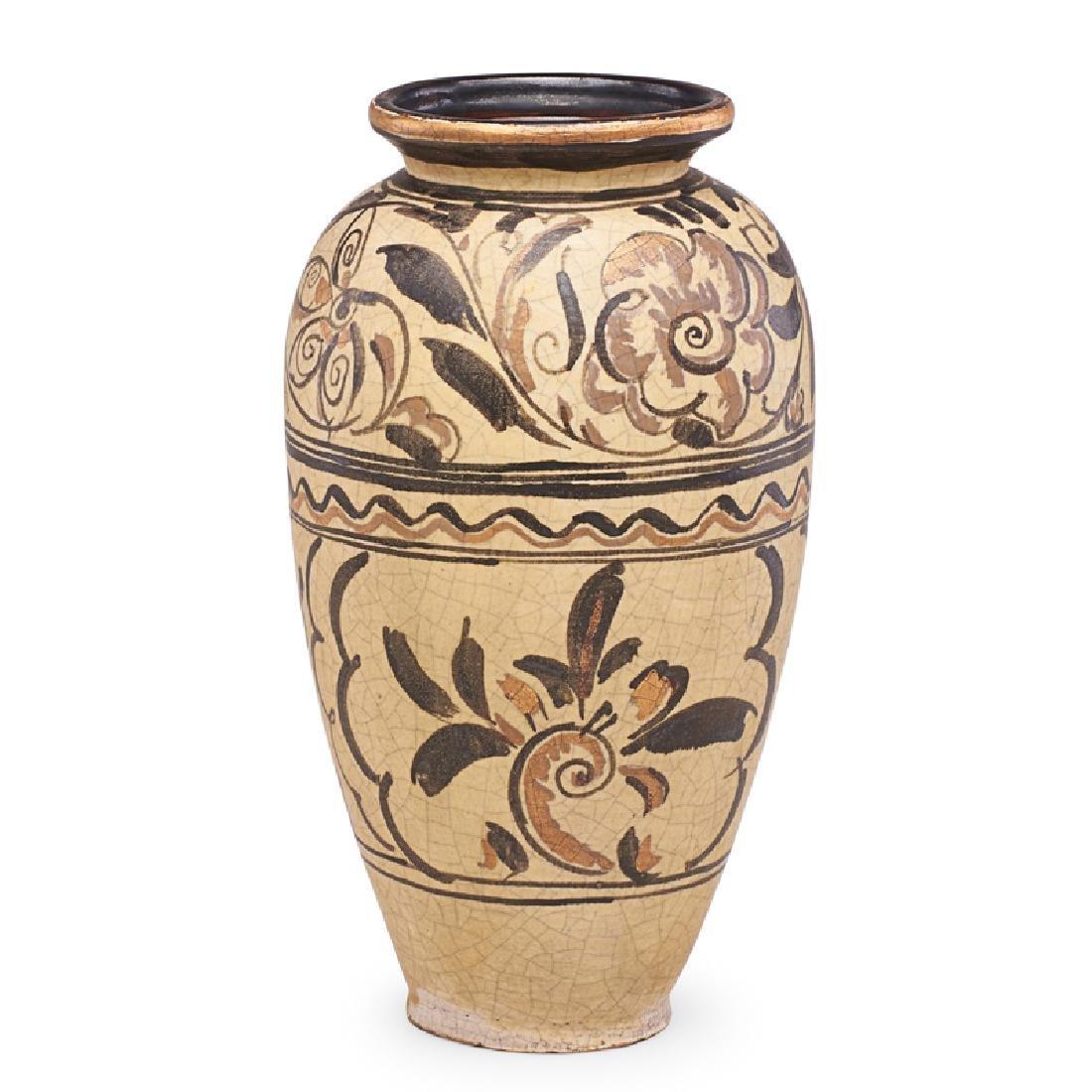 RENE BUTHAUD Large vase with stylized flowers - 3