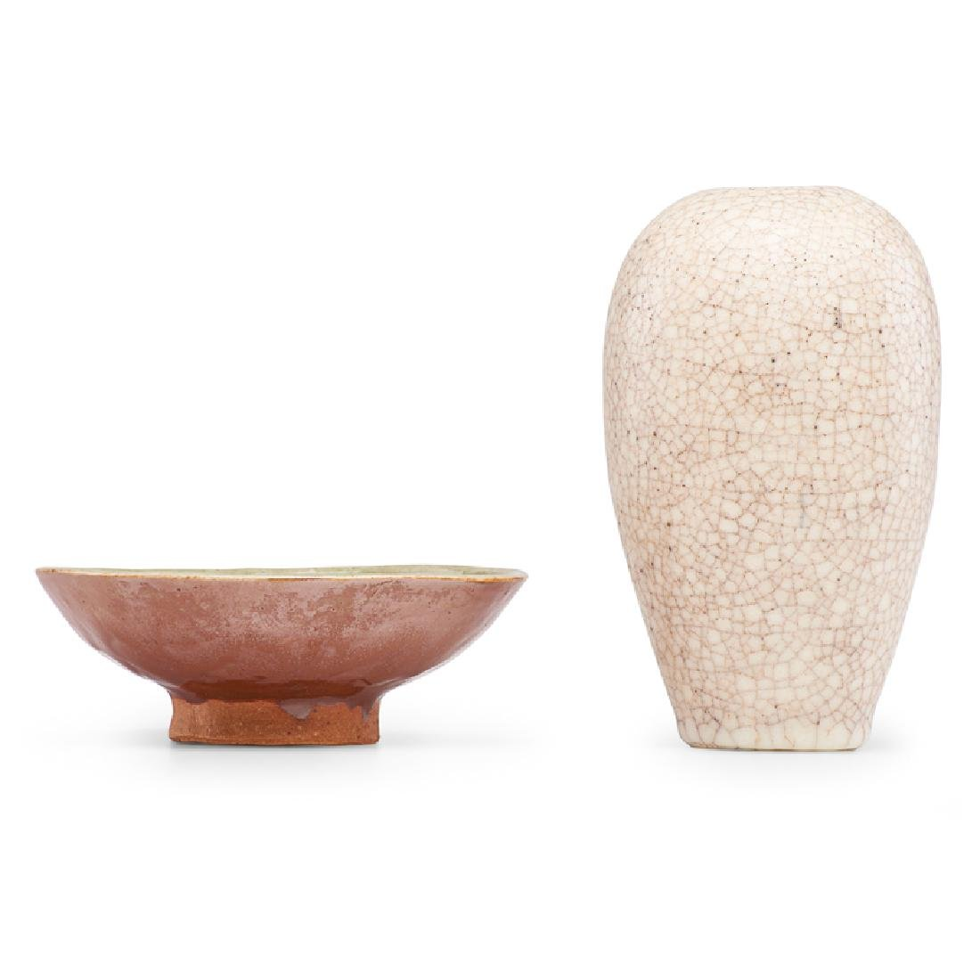RENE BUTHAUD Vase and small dish - 2