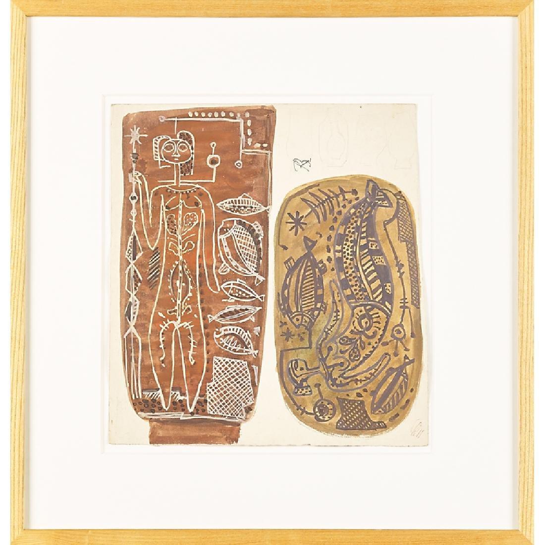 RENE BUTHAUD Three untitled studies