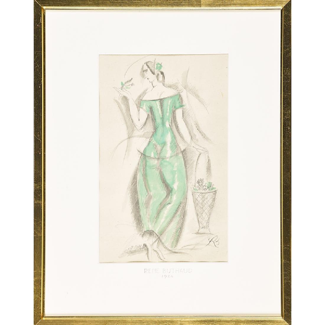 RENE BUTHAUD Two watercolors