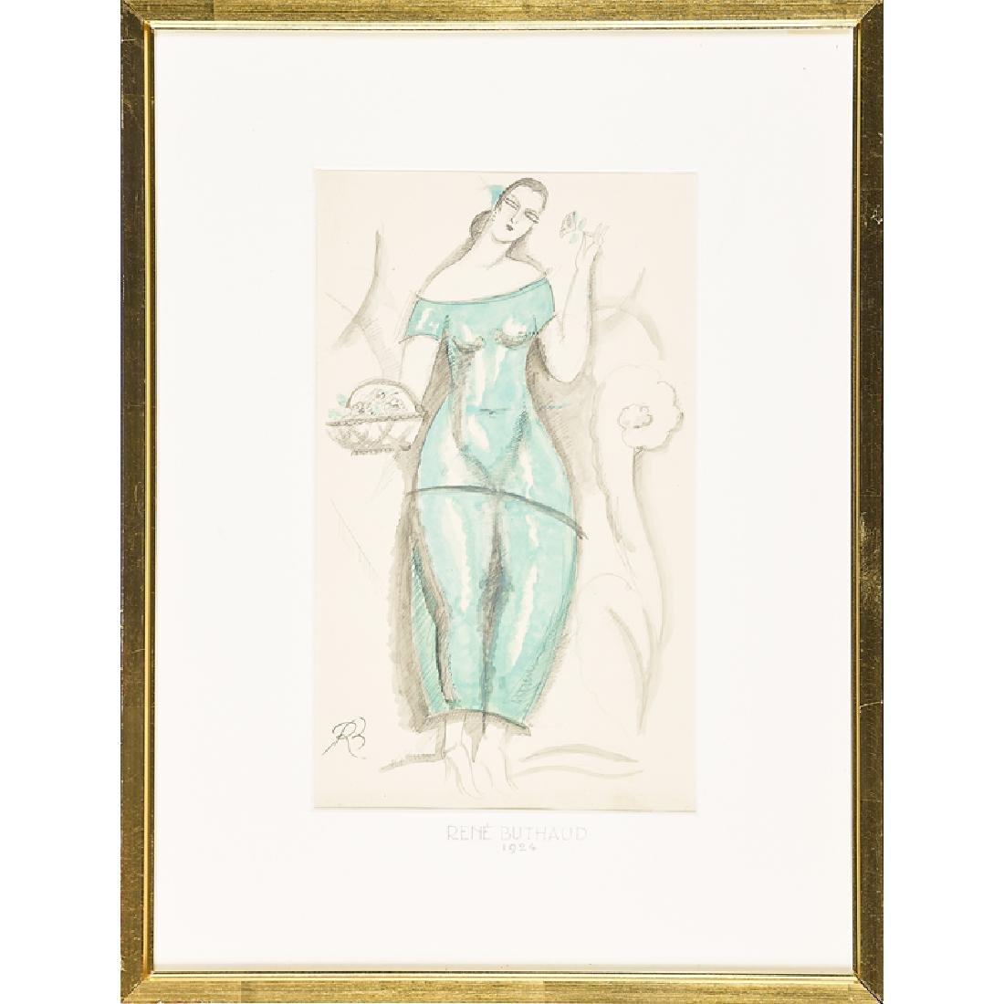 RENE BUTHAUD Two watercolors - 2
