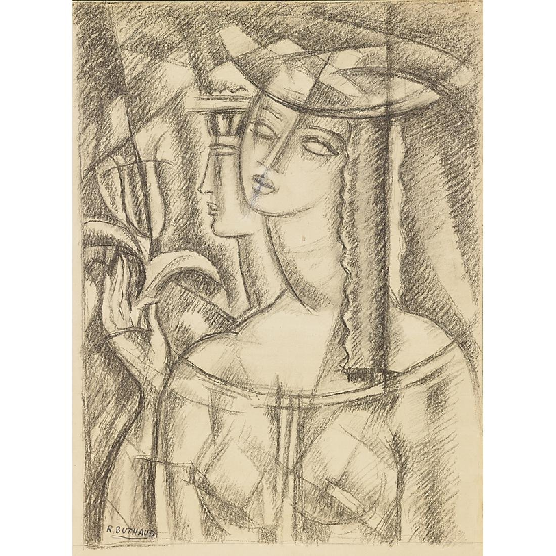RENE BUTHAUD Untitled (Woman with Sailor)