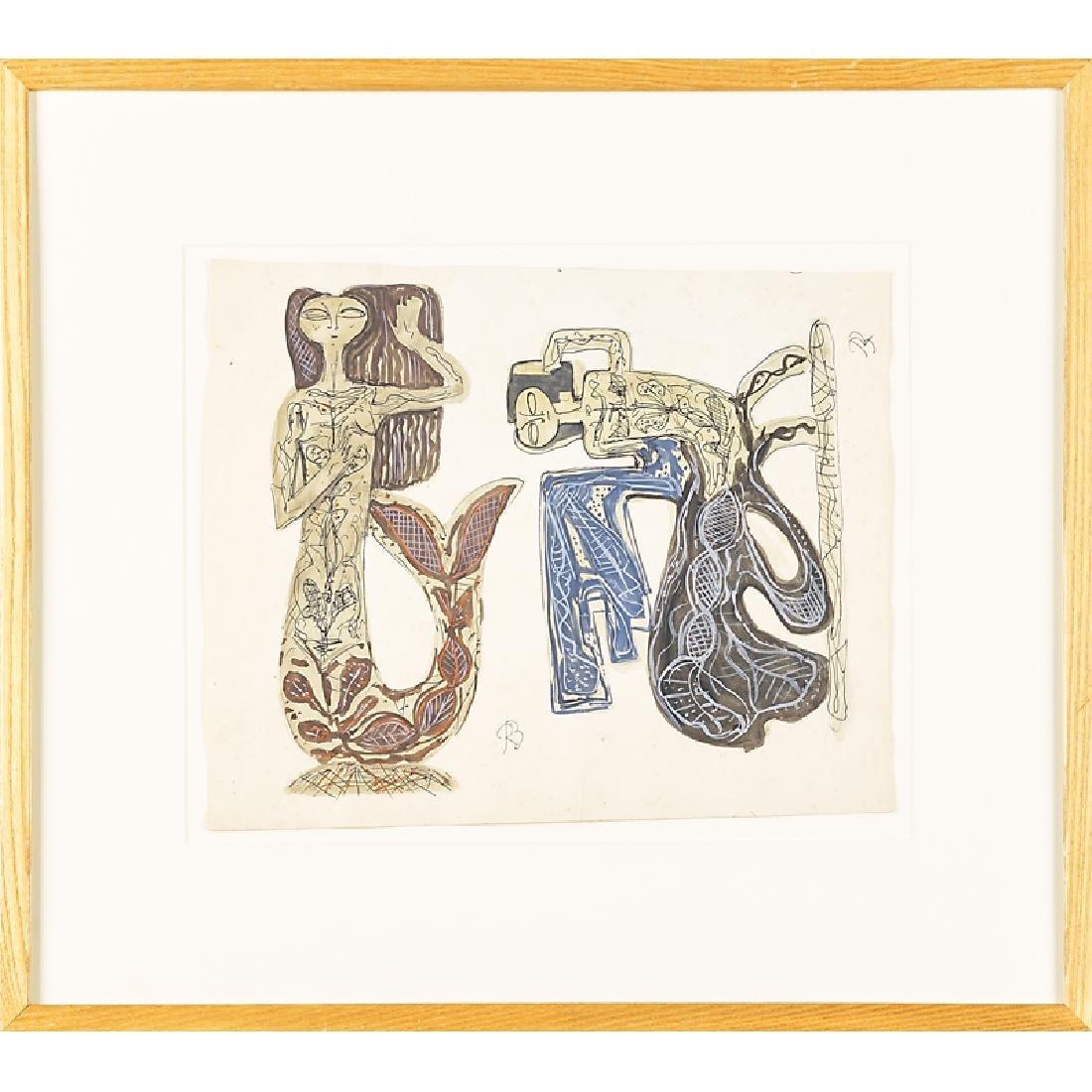 RENE BUTHAUD Two sculpture studies