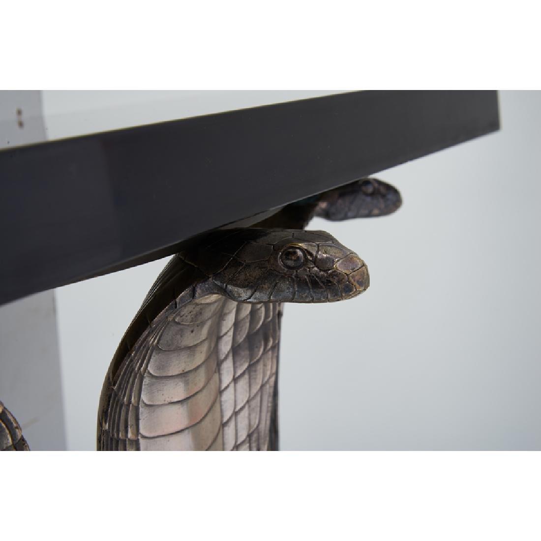 ALBERT CHEURET Rare Cobra console table w/ mirror - 5